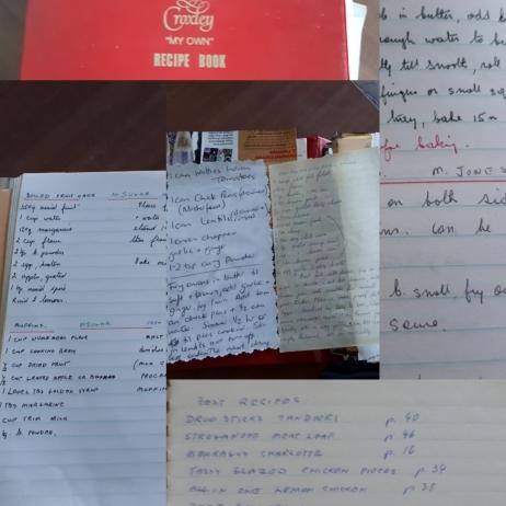 handwritten cook book