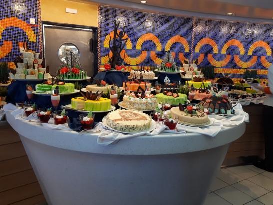The dessert bar on the last day