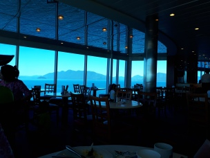 The cafe with an ever changing view
