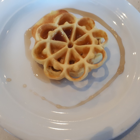 Morning Waffle, plated by my daighter